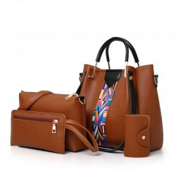 4 PCS Set Bags For Woman Shoulder Handbags