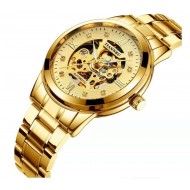 TIANNBU mechanical watch for men gold color
