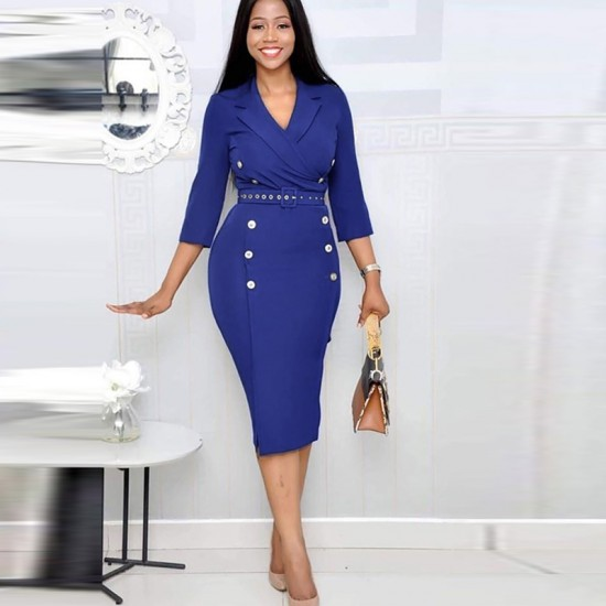 New Style Women Office Formal Knee Length Pencil Dress